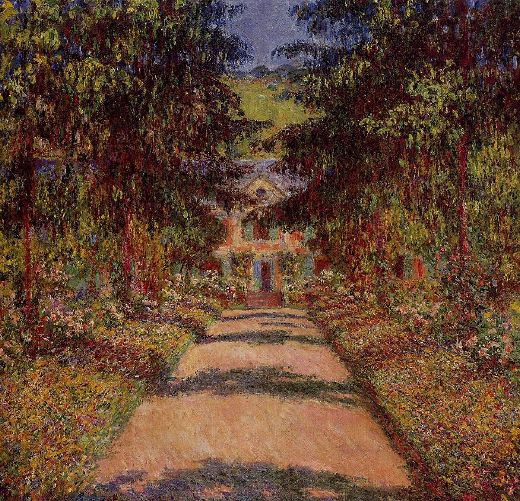 пейзаж < Главная дорога в Живерни >:: Клод Моне, описание картины - Моне Клод (Claude Monet) фото