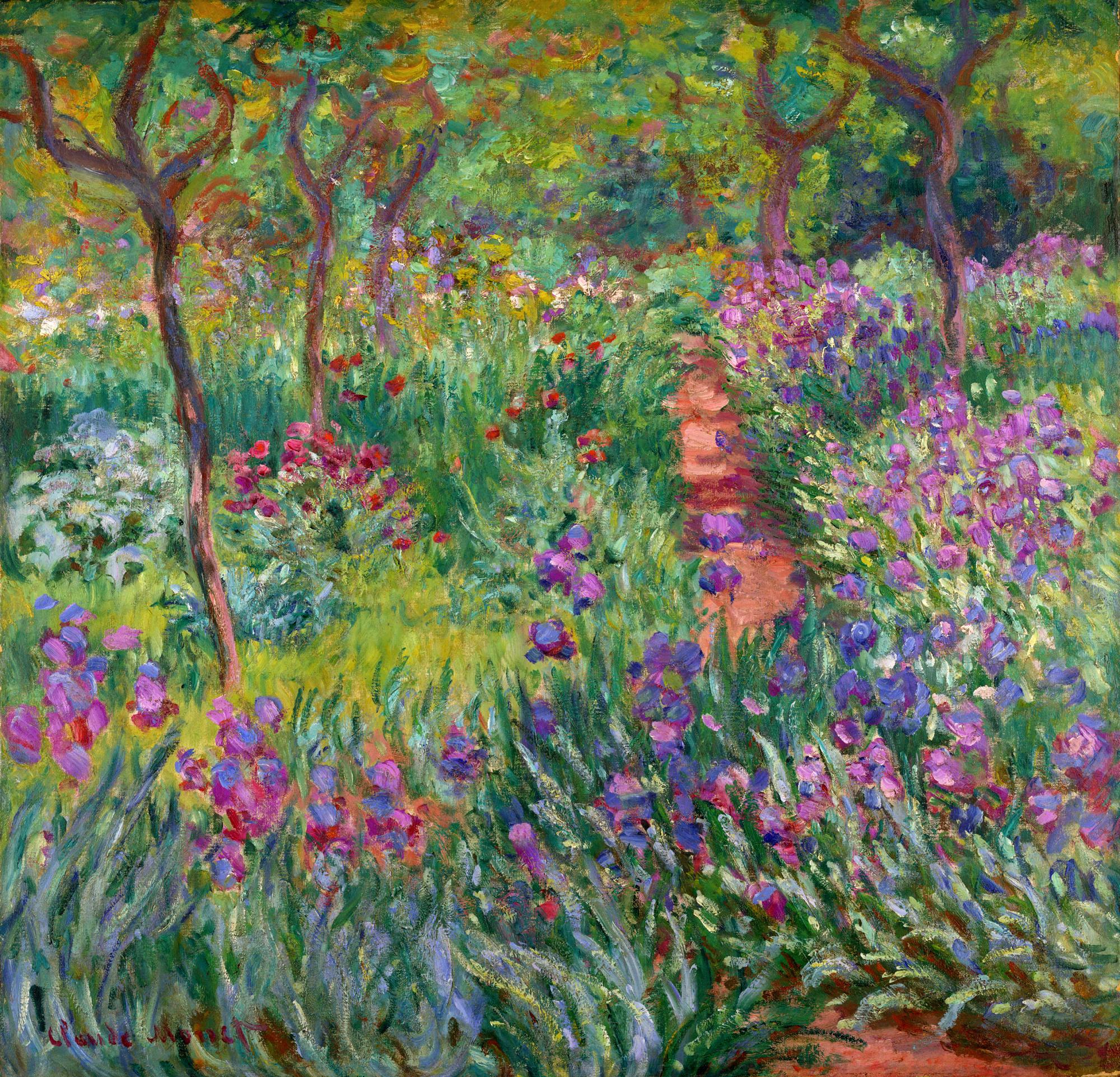 пейзаж < Сад ирисов в Живерни >:: Клод Моне, описание картины - Моне Клод (Claude Monet) фото