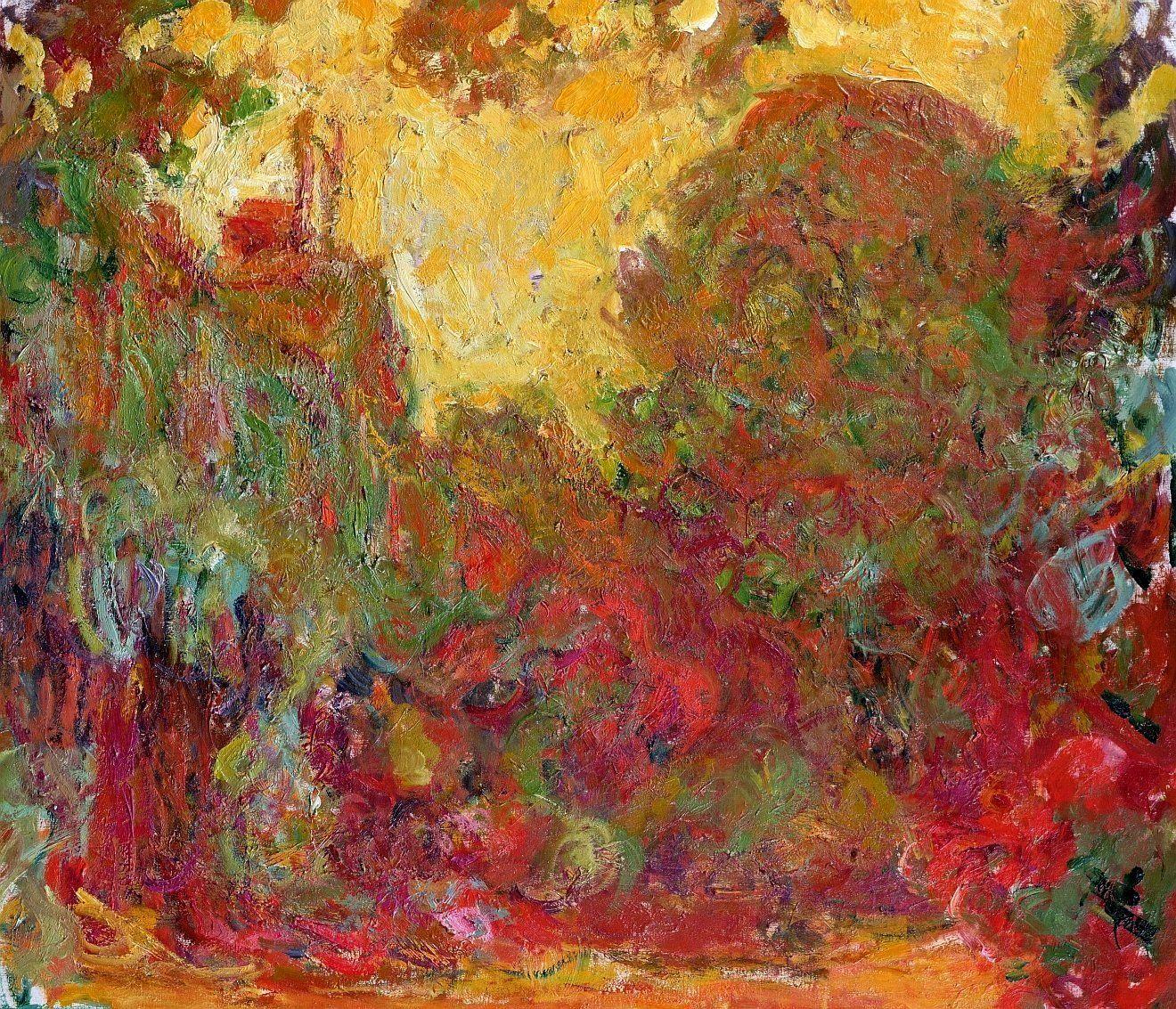 пейзаж < Вид на дом из розалия >:: Клод Моне, описание картины - Моне Клод (Claude Monet) фото