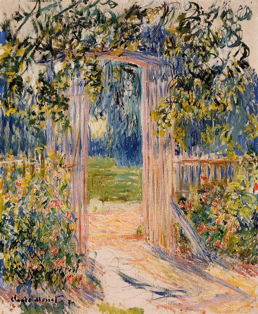 пейзаж < Садовые ворота >:: Клод Моне, описание картины - Моне Клод (Claude Monet) фото