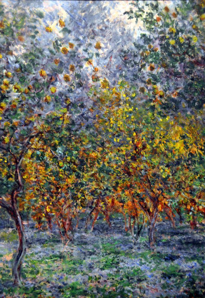 пейзаж < Под лимонными деревьми >:: Клод Моне, описание картины - Claude Monet фото