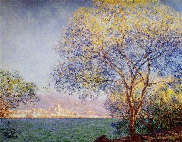 пейзаж < Антиб утром >:: Клод Моне, описание картины - Моне Клод (Claude Monet) фото