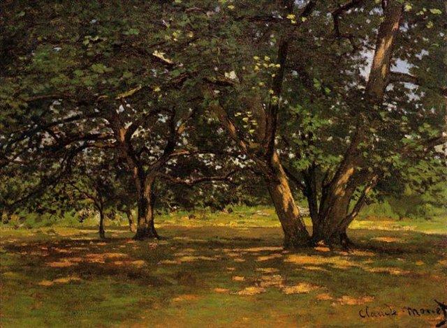 пейзаж Лес Фонтенбло :: Клод Моне, описание картины - Claude Monet фото
