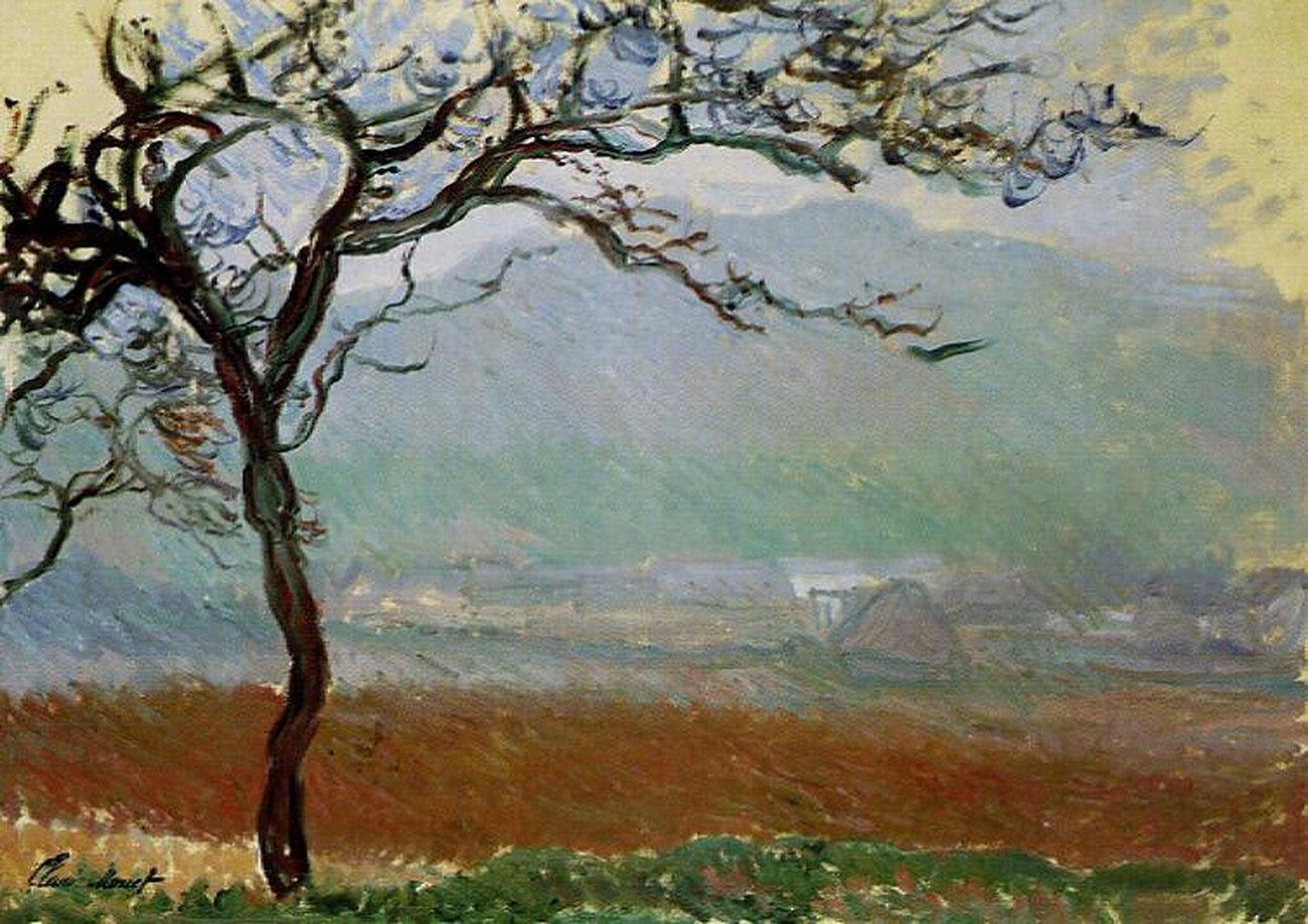 пейзаж < Пейзаж, Живерни >:: Клод Моне, описание картины - Claude Monet фото