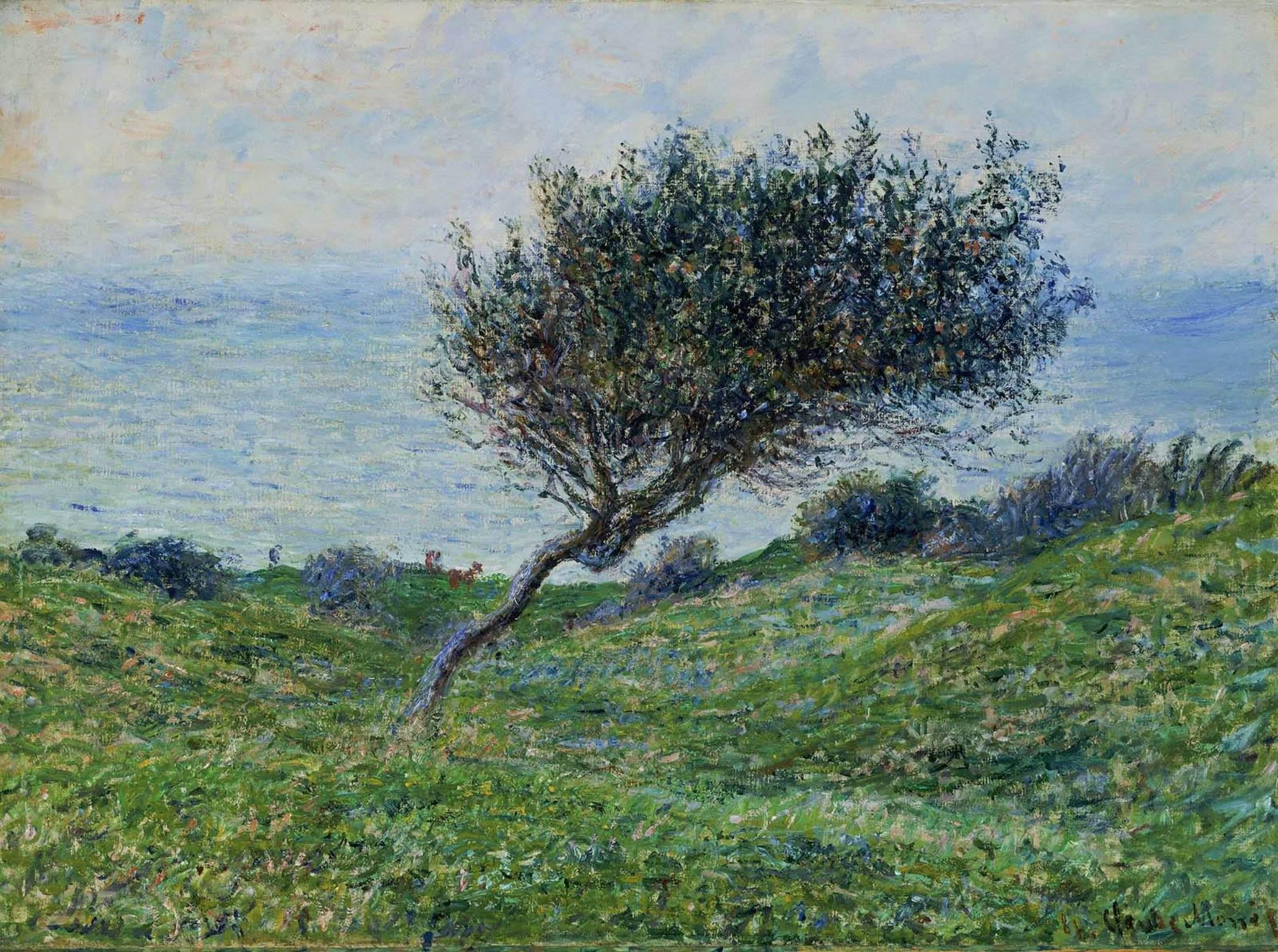 пейзаж < На морском побережье в Трувиле >:: Клод Моне, описание картины - Моне Клод (Claude Monet) фото
