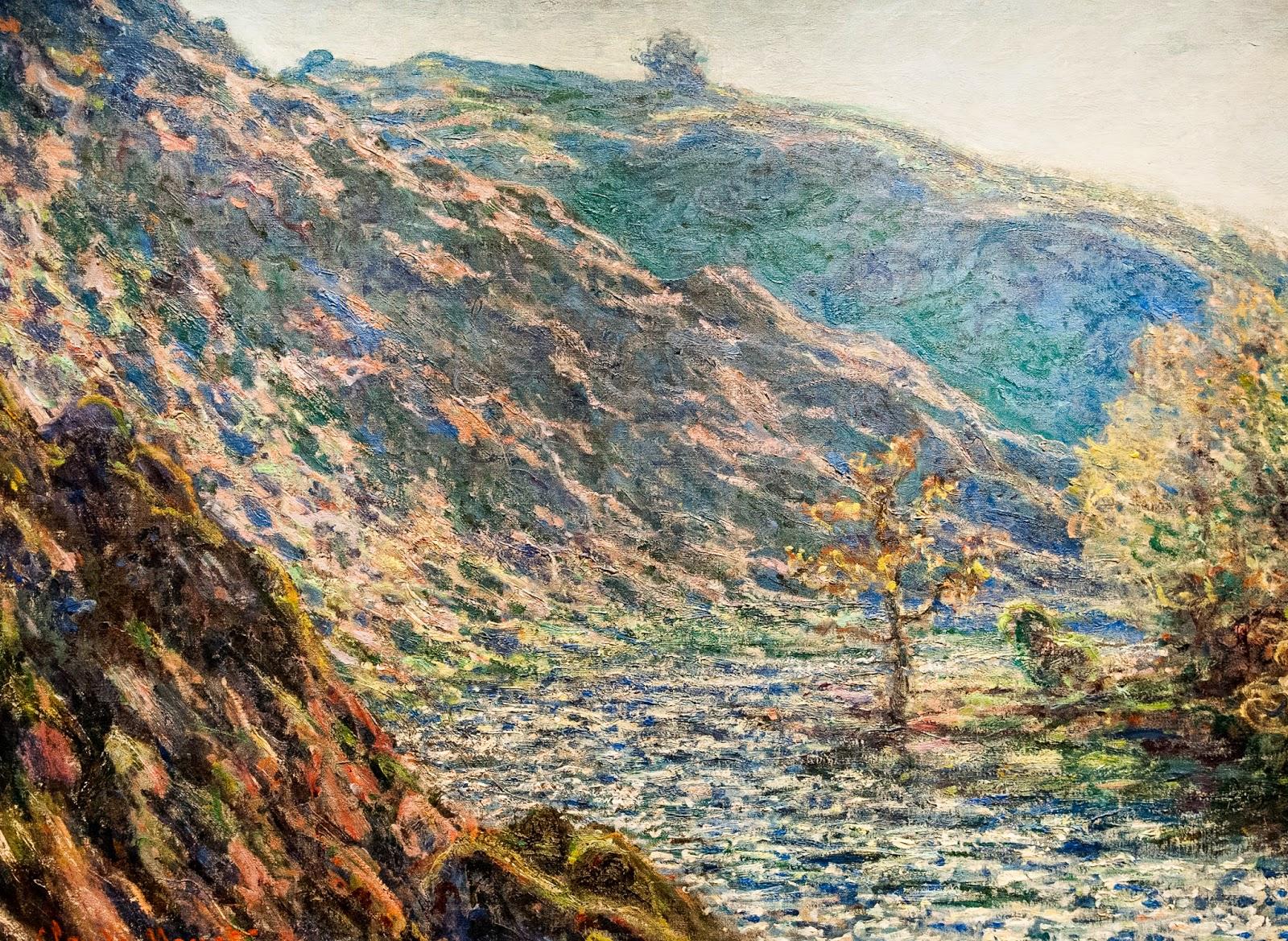 пейзаж < Старое дерево на перекрёстке >:: Клод Моне, описание картины - Claude Monet фото