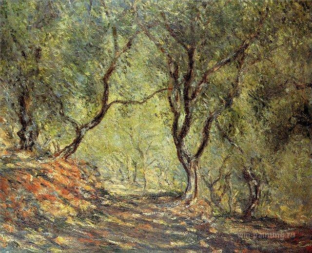 пейзаж Оливковый лес в Морено :: Клод Моне, описание картины - Claude Monet фото