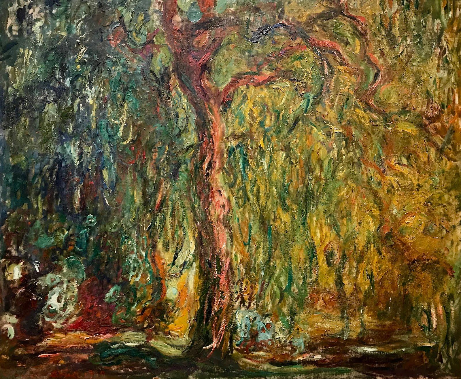 пейзаж Плакучая ива :: Клод Моне, описание картины - Claude Monet фото