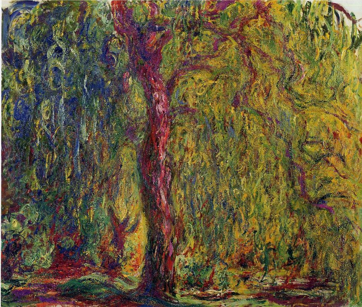 пейзаж < Плакучая ива >:: Клод Моне, описание картины - Claude Monet фото