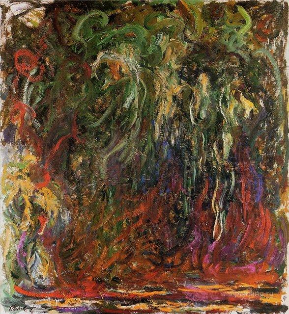 пейзаж Плакучая ива, Живерни :: Клод Моне, описание картины - Claude Monet фото