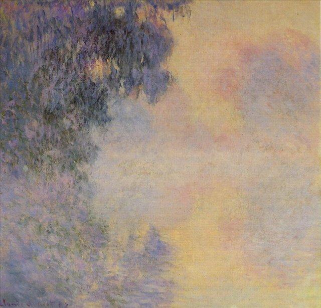 пейзаж Сена в тумане, близ Живерни :: Клод Моне, описание картины - Claude Monet фото