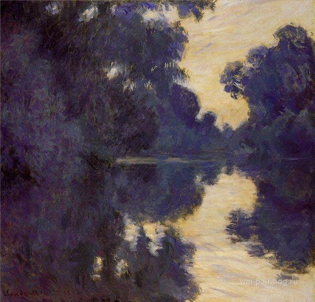пейзаж < Утро над Сеной >:: Клод Моне, картина, плюс статья про подарки - Claude Monet фото