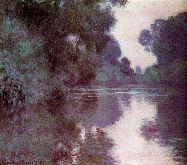 речной пейзаж Сена рядом с Живерни :: Клод Моне, описание картины - Claude Monet фото