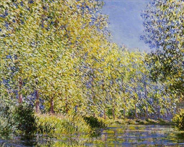 речной пейзаж < Излучина реки Эпт >:: Клод Моне, описание картины - Моне Клод (Claude Monet) фото