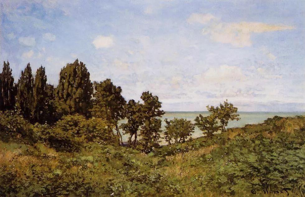 речной пейзаж < На море >:: Клод Моне, описание картины - Claude Monet фото