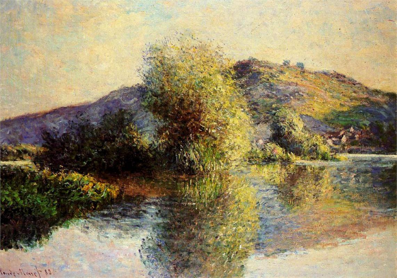 речной пейзаж < Порт-Вилле  >:: Клод Моне, описание картины - Моне Клод (Claude Monet) фото