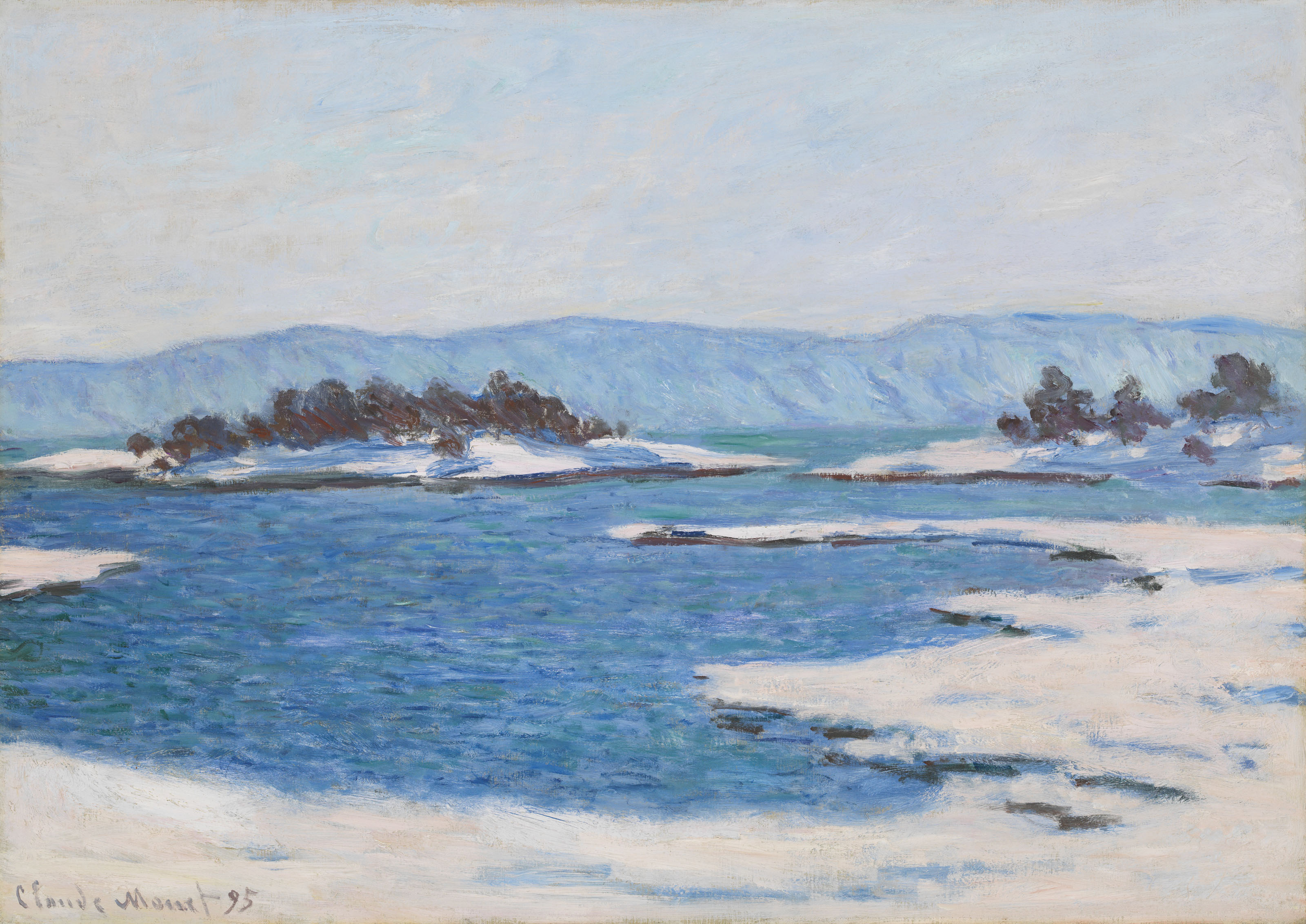 речной пейзаж < Край фьёрда, Кристиания >:: Клод Моне, описание картины - Моне Клод (Claude Monet) фото