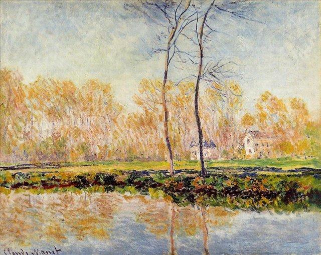 речной пейзаж < Берег реки Эпт, Живерни >:: Клод Моне, описание картины - Моне Клод (Claude Monet) фото
