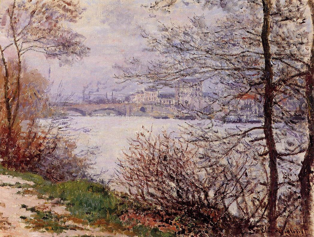речной пейзаж < Берега Сены >:: Клод Моне, описание картины - Моне Клод (Claude Monet) фото