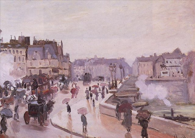 речной пейзаж < Новый Мост >:: Клод Моне, описание картины - Моне Клод (Claude Monet) фото
