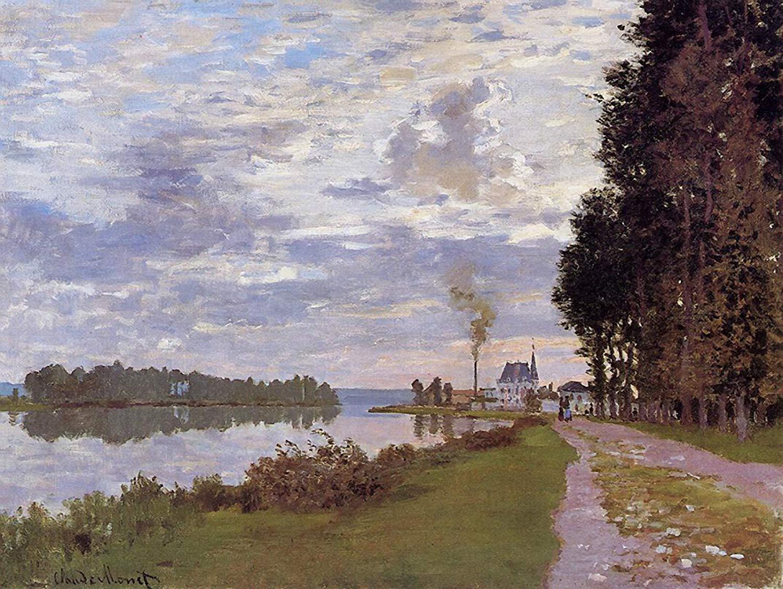 речной пейзаж Прогулка по Аржантёю:: Клод Моне, описание картины - Claude Monet фото