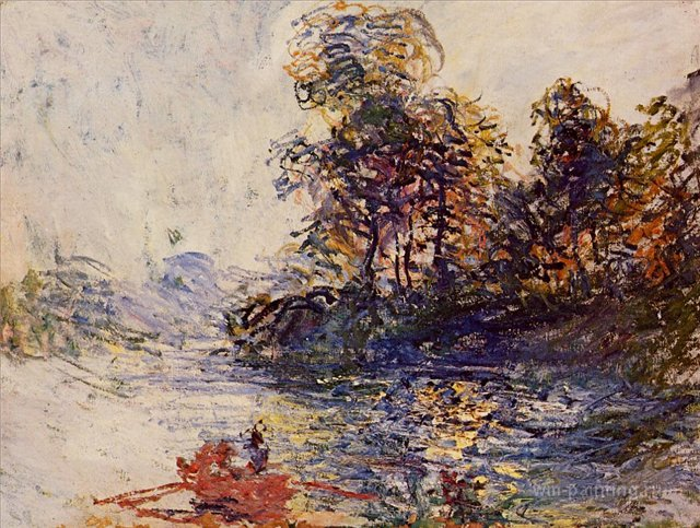 речной пейзаж < Река >:: Клод Моне, описание картины - Моне Клод (Claude Monet) фото
