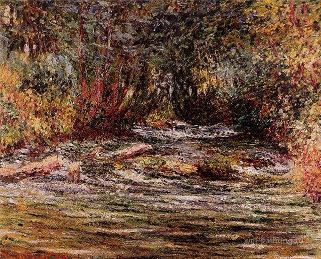 речной пейзаж < Река Эпт в Живерни >:: Клод Моне, описание картины - Claude Monet фото