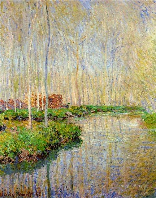 речной пейзаж Река Эпт :: Клод Моне, описание картины - Claude Monet фото