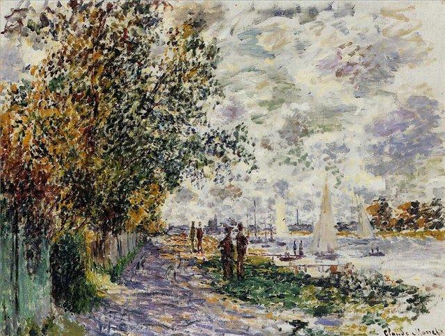 речной пейзаж Берег реки :: Клод Моне, описание картины - Claude Monet фото