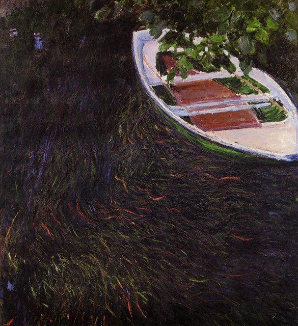 речной пейзаж < Вёсельная лодка >:: Клод Моне, описание картины - Claude Monet фото