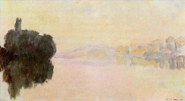 речной пейзаж < Сена, Порт-Вилле >:: Клод Моне, описание картины - Моне Клод (Claude Monet) фото