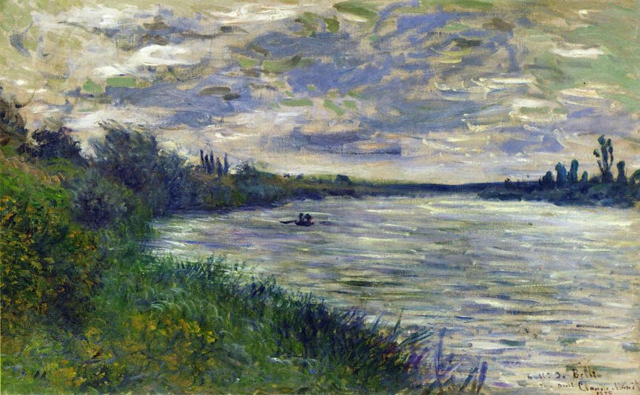 Сена, Ветёй, ветренная погода - Моне Клод (Claude Monet) фото