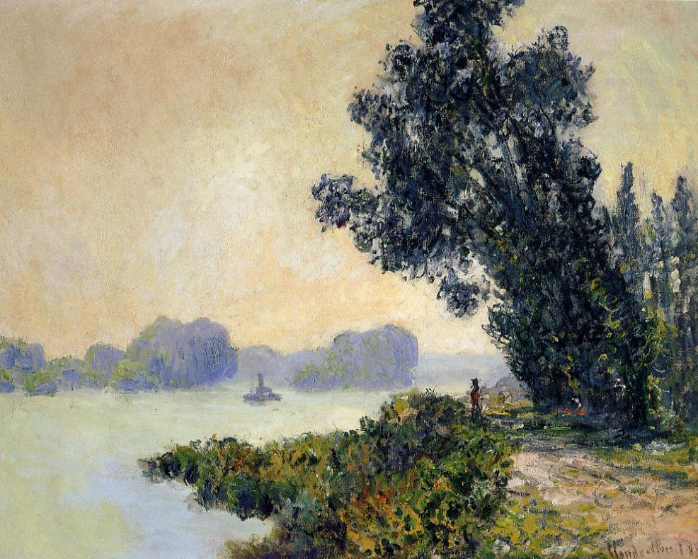 речной пейзаж < Берег реки >:: Клод Моне, описание картины - Моне Клод (Claude Monet) фото