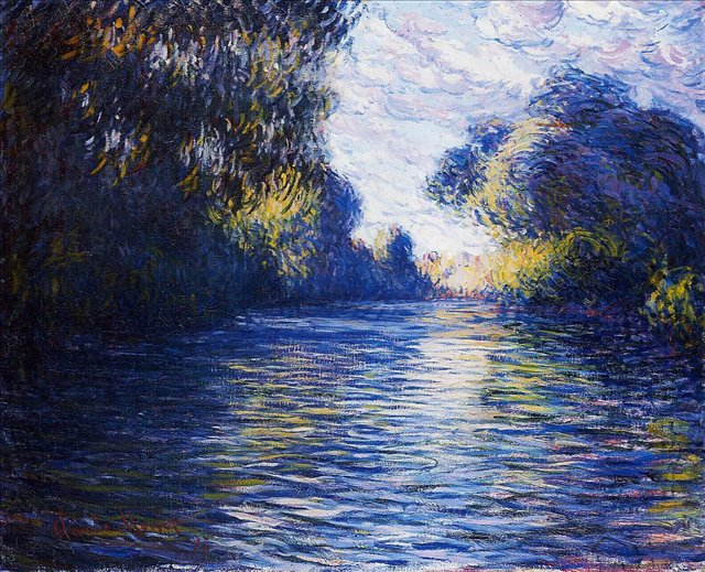 речной пейзаж < Сена утром >:: Клод Моне, описание картины - Claude Monet фото