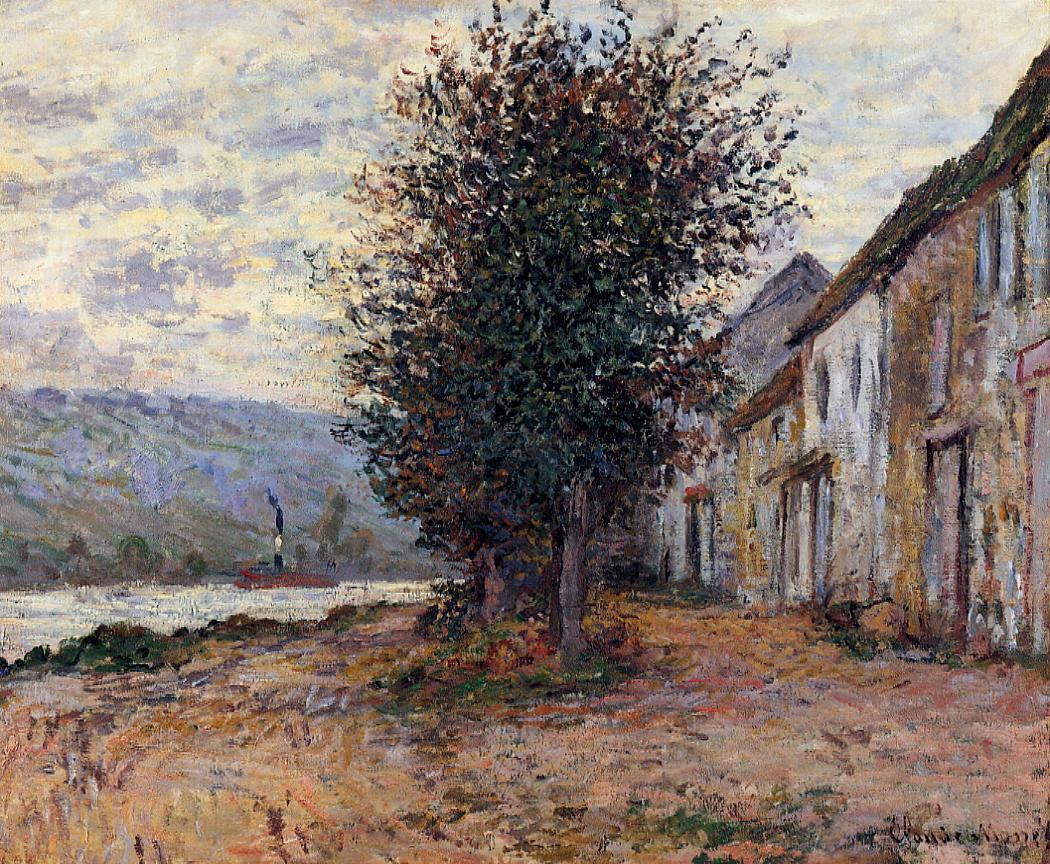 речной пейзаж < Берега Сены >:: Клод Моне, описание картины - Claude Monet фото