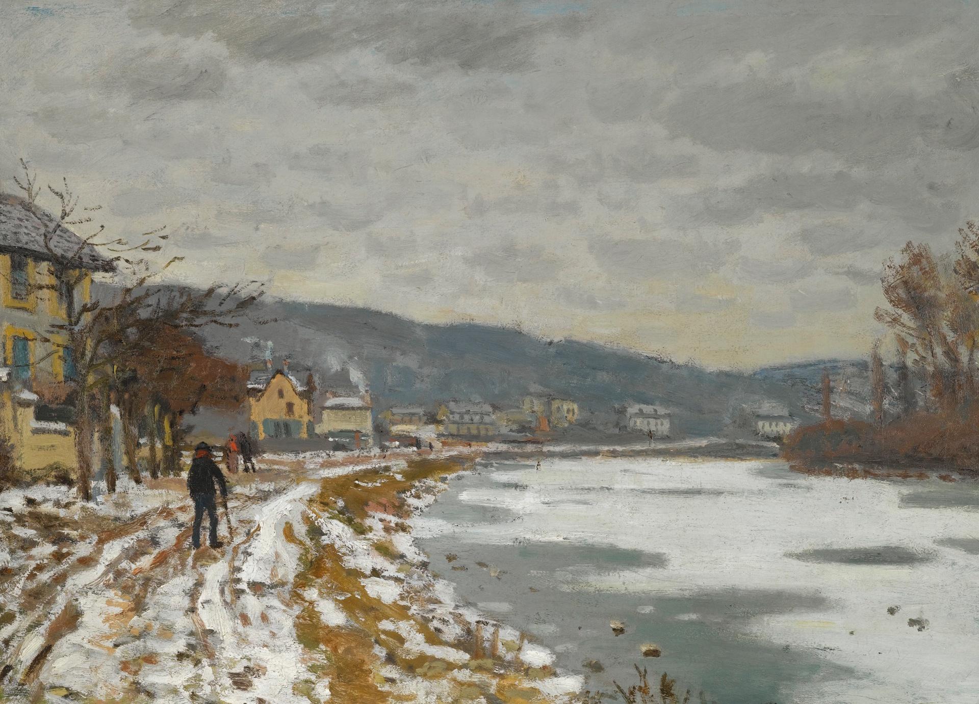 речной пейзаж < Сена, Буживаль >:: Клод Моне, описание картины - Моне Клод (Claude Monet) фото