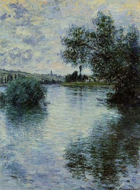речной пейзаж Сена, Витёй :: Клод Моне, описание картины - Claude Monet фото