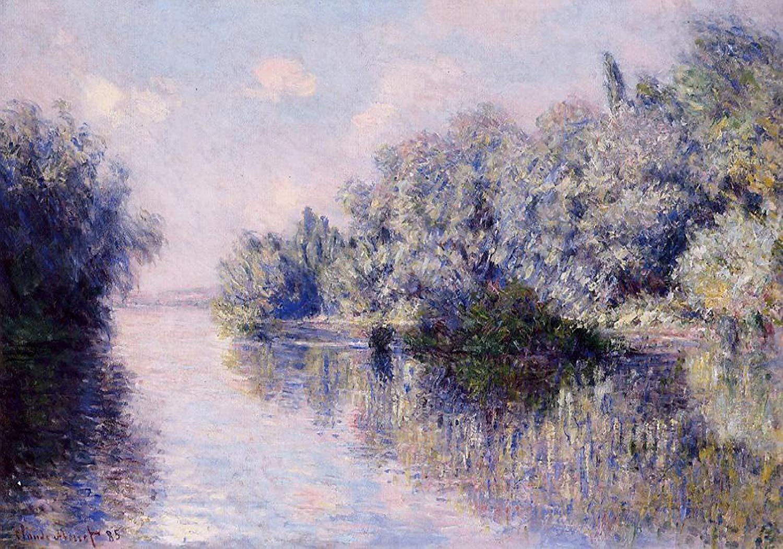 речной пейзаж < Сена рядом с Живерни >:: Клод Моне, описание картины - Моне Клод (Claude Monet) фото