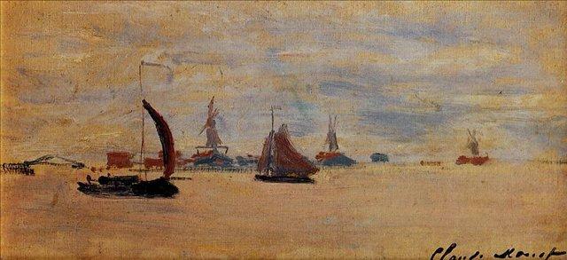 пейзажи - парусники и лодки < Виды Вурзаана >:: Клод Моне, описание картины - Claude Monet фото