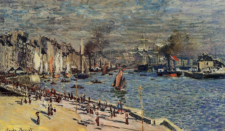 пейзажи - парусники и лодки < Вид на Старую Гавань в Гавре >:: Клод Моне, описание картины - Моне Клод (Claude Monet) фото