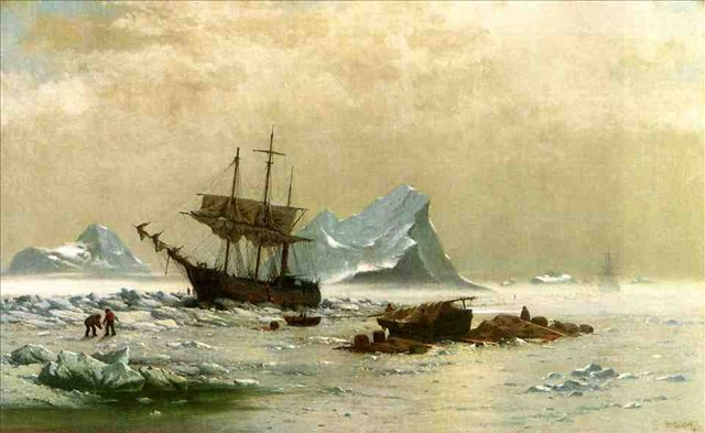 пейзажи - парусники и лодки < Льдины >:: Клод Моне, описание картины - Claude Monet фото