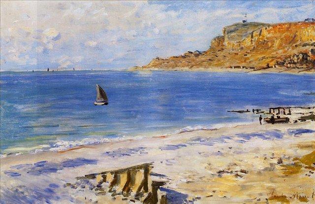 пейзажи - парусники и лодки < Сен-Адрес >:: Клод Моне, описание картины - Claude Monet фото