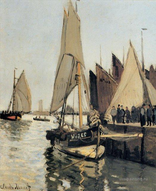 пейзажи - парусники и лодки < Парусные лодки >:: Клод Моне, описание картины - Claude Monet фото