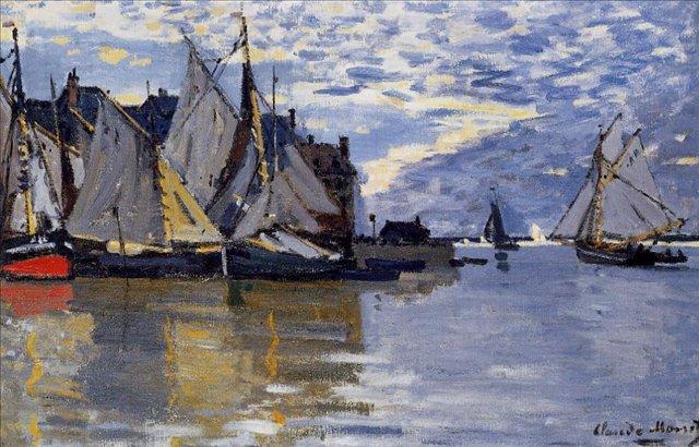 пейзажи - парусники и лодки < Парусники >:: Клод Моне, описание картины - Claude Monet фото