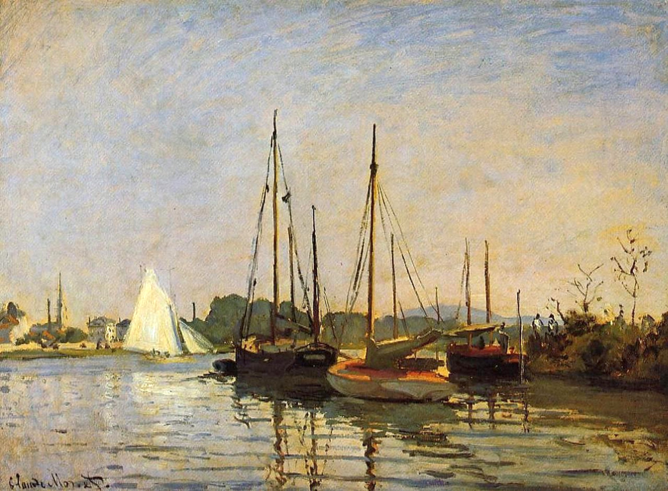 пейзажи - парусники и лодки < Прогулочные лодки >:: Клод Моне, описание картины - Claude Monet фото