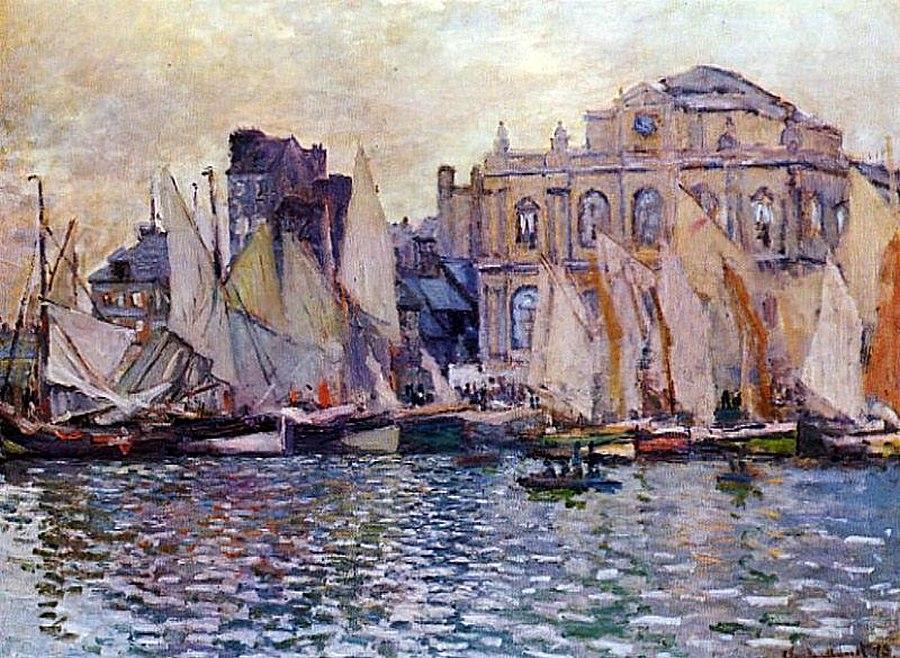 пейзажи - парусники и лодки < Музей Гавр >:: Клод Моне, описание картины - Моне Клод (Claude Monet) фото