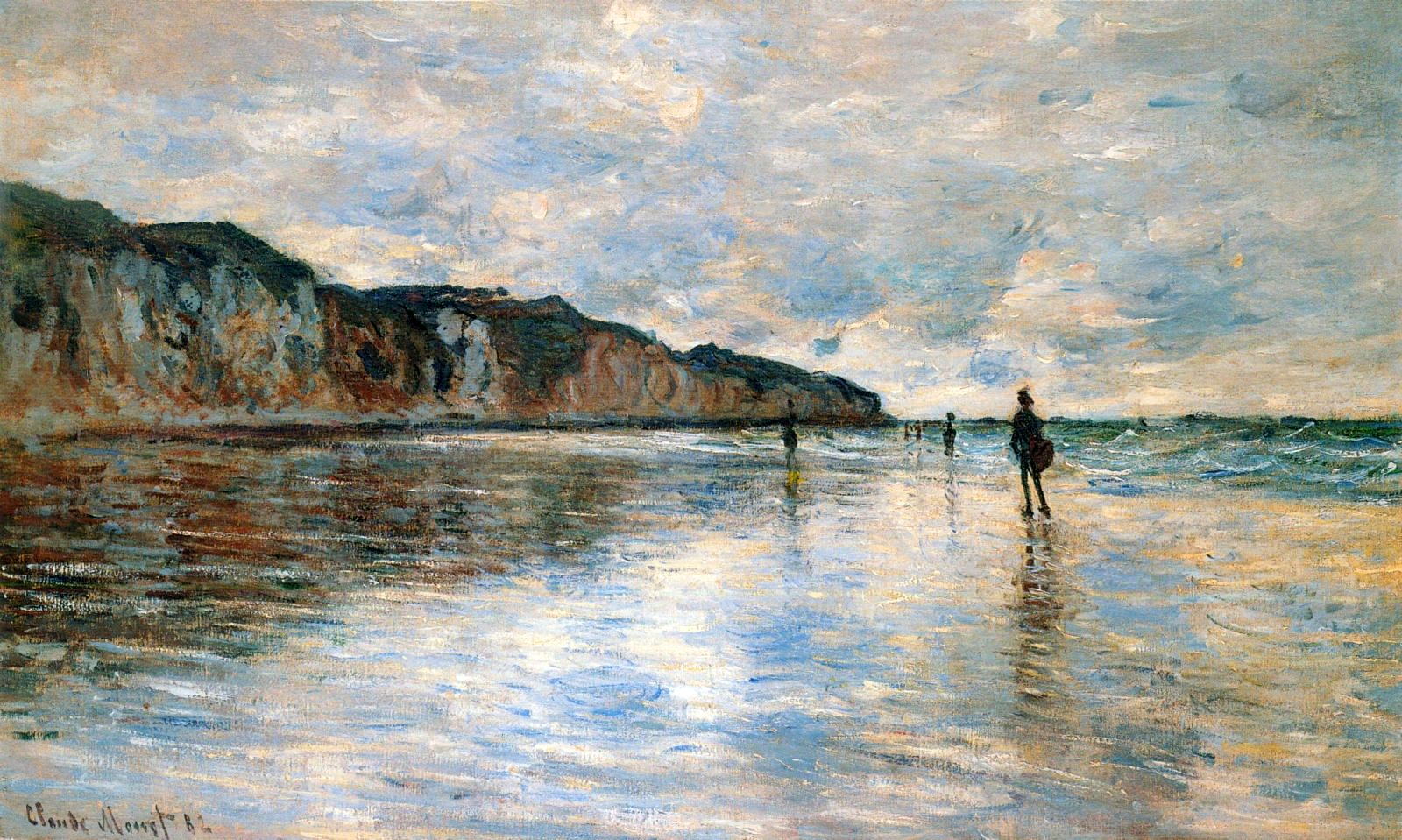 пейзажи - побережье < Пурвилль во время отлива >:: Клод Моне, описание картины - Моне Клод (Claude Monet) фото