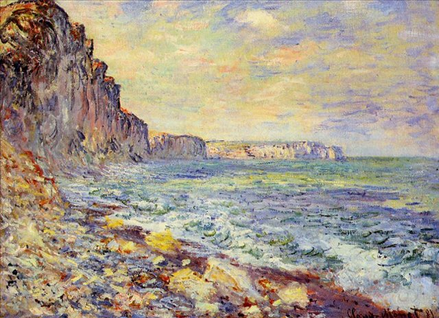 пейзажи - побережье < Утро на море >:: Клод Моне, описание картины - Claude Monet фото