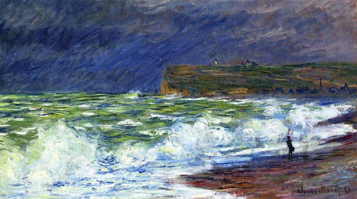 пейзажи - побережье < Пляж в Фекаме >:: Клод Моне, описание картины - Claude Monet фото