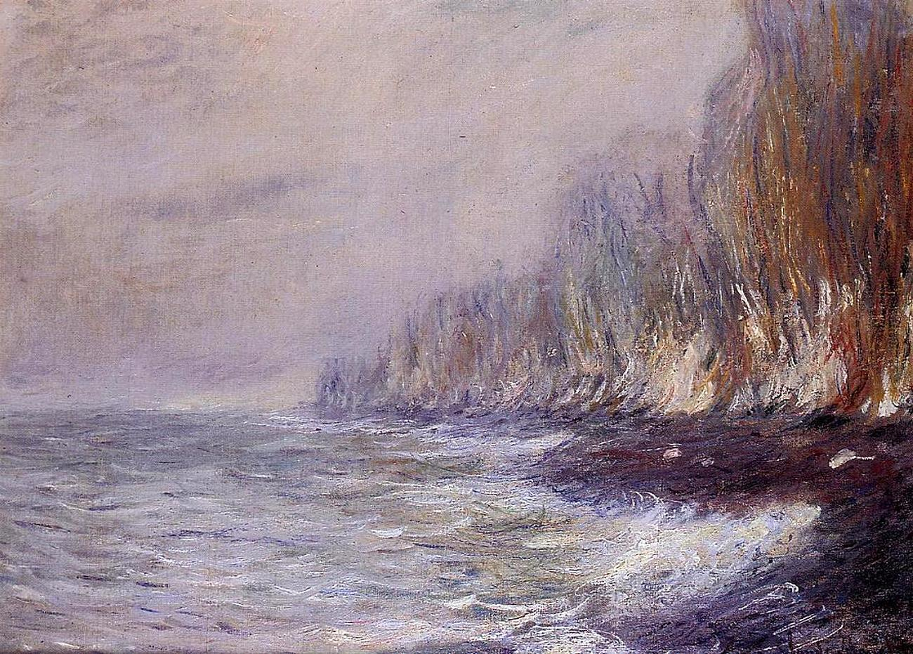 пейзажи - побережье < Туман близ Дьепа >:: Клод Моне, описание картины - Claude Monet фото